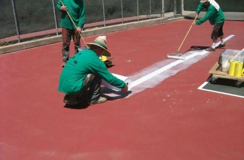 3 tennis court construction