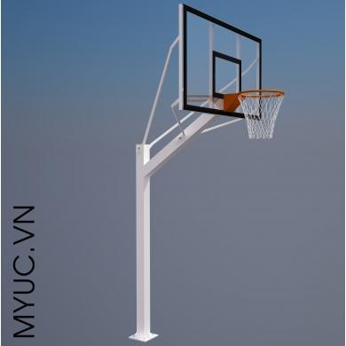 trụ bóng rổ cố định toàn bộ bảng kính siêu bền mỹ Úc