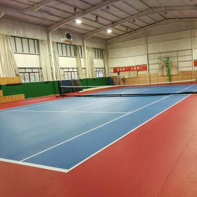 anti slip indoor pvc tennis floor