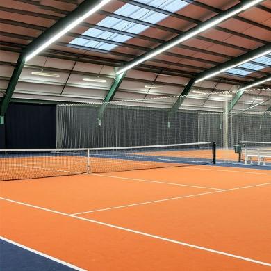 blue color pvc tennis floor