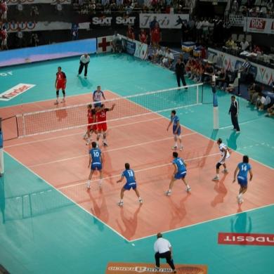 indoor sponge volleyball court floor