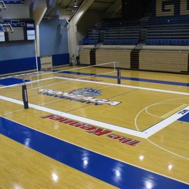 soft vinyl volleyball court floor
