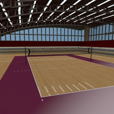 soft volleyball vinyl floor covering