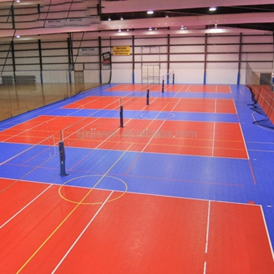 standard size and orange color volleyball floor