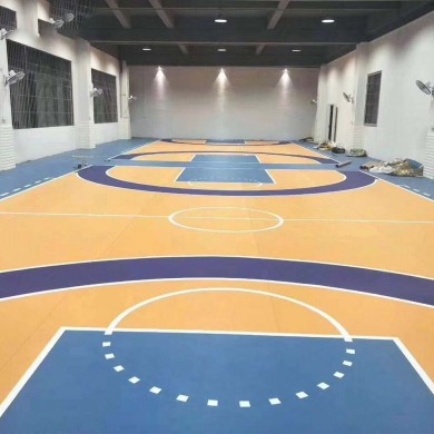 synthetic pvc basketball mat