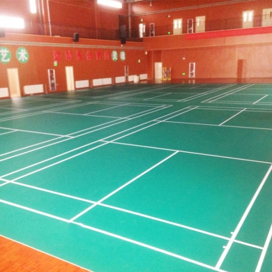 alibaba suppler 4 5mm thickness badminton court