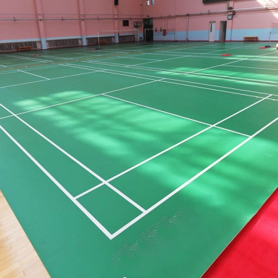 indoor pvc sport badminton court flooring badminton