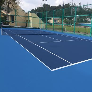 sơn cao su sân tennis 7 lớp novasports usa trên nền nhựa.