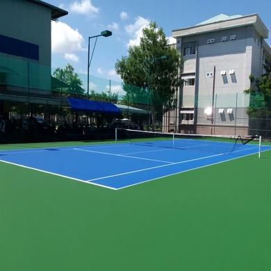 sơn cao su sân tennis 9 lớp novasports usa trên nền nhựa.