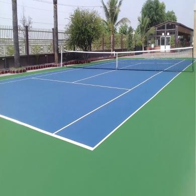 sơn sân tennis 6 lớp decoturf trên nền bê tông xi măng