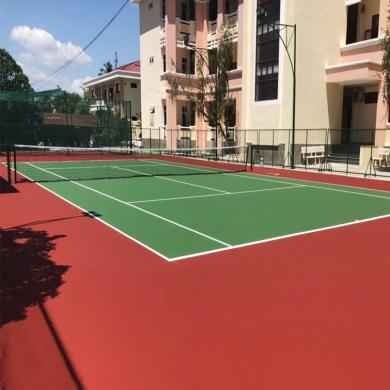 sơn sân tennis 6 lớp novasports trên nền nhựa