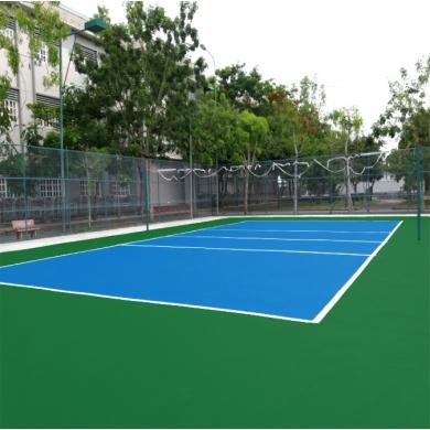 sơn sân bóng chuyền với 4 lớp sơn cao su nền ciment cũ   sơn pu novasports usa