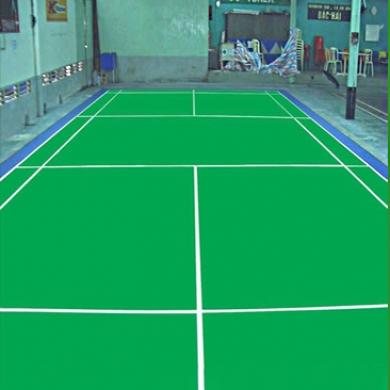 sơn sân bóng chuyền với 4 lớp sơn cao su nền nhựa cũ   sơn pu novasports us