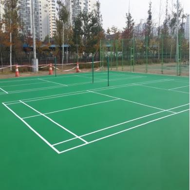 xây dựng mới sân bóng chuyền nền nhựa   sơn cao su pu novasports usa