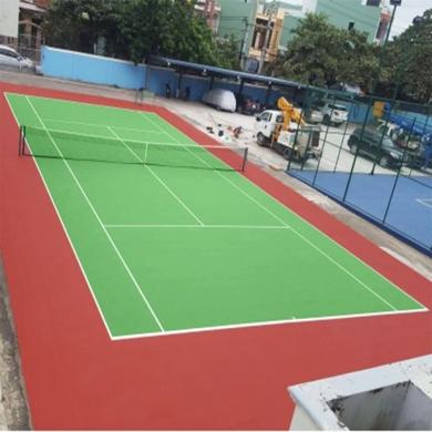 thi công sơn sân tennis 4
