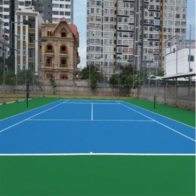 thi công sơn sân tennis 5