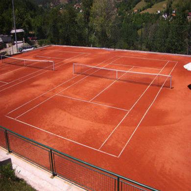 thi công mới sân tennis đất nện metal 3,6m