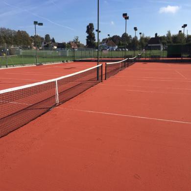 thi công mới sân tennis đất nện metal 4,2m